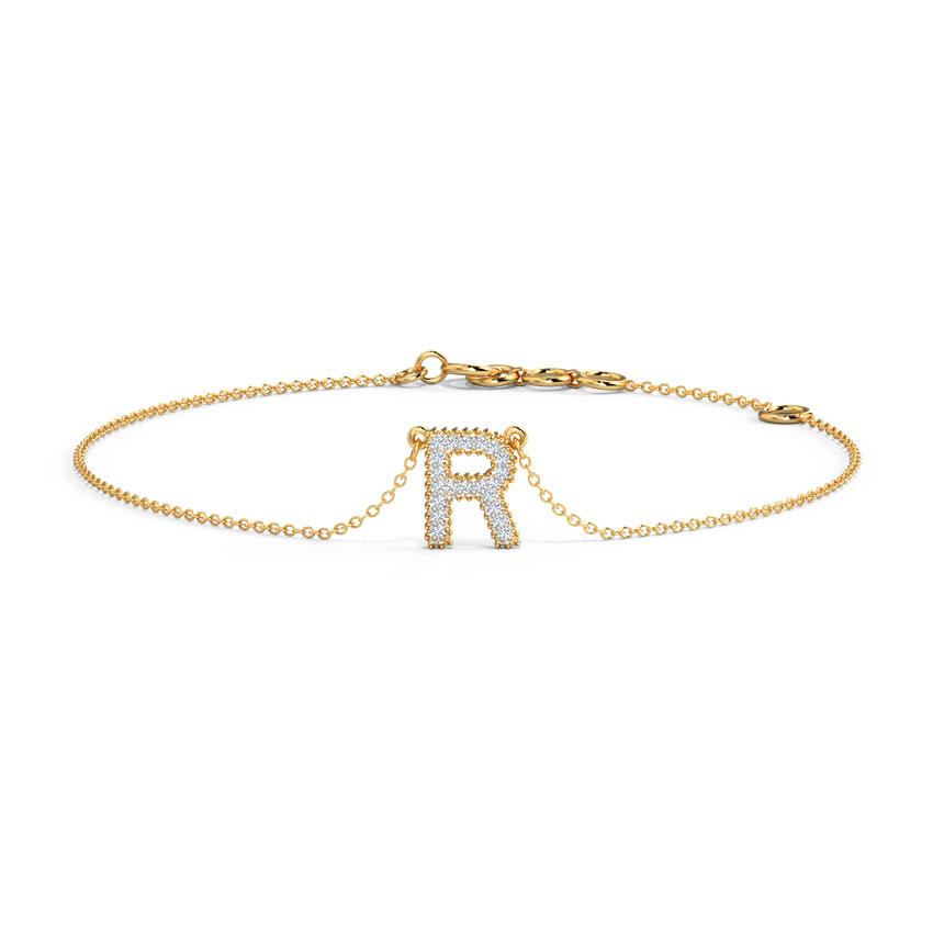 Dazzle Alphabet R Bracelet