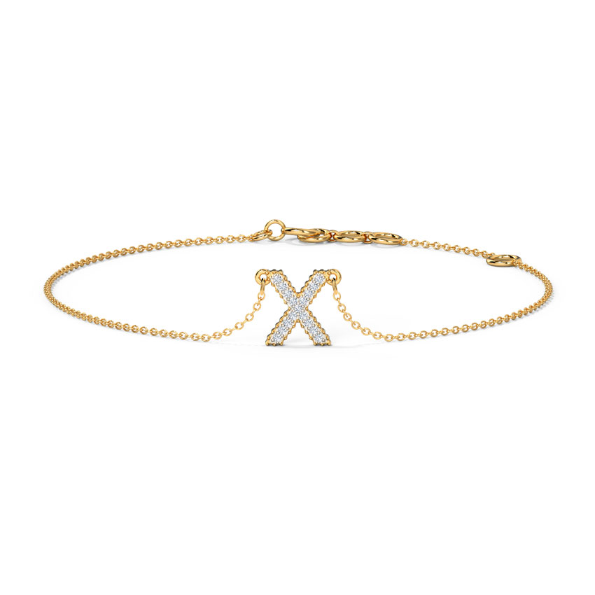 Dazzle Alphabet X Bracelet