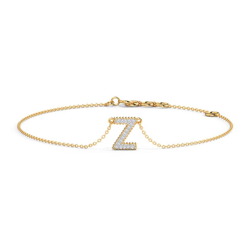 Dazzle Alphabet Z Bracelet