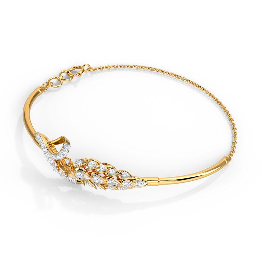 Diamond Bracelets 18 Karat Yellow Gold Sunny Diamond Bracelet
