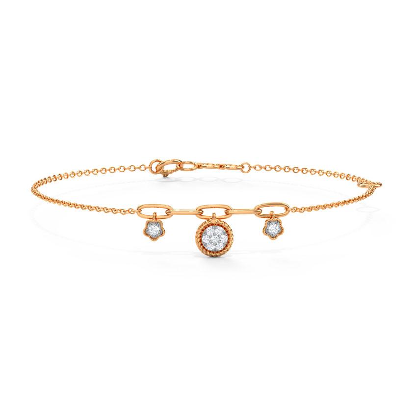 Diamond Bracelets 14 Karat Rose Gold Alisha Sparkle Bracelet