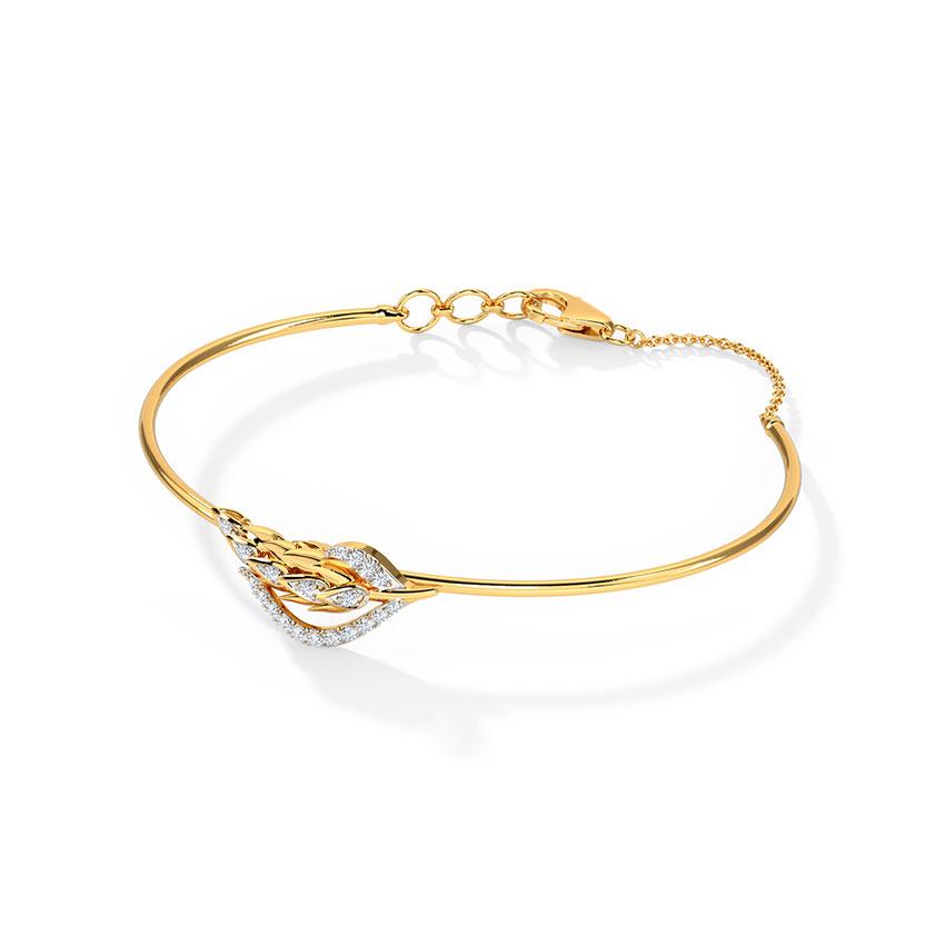 Diamond Bracelets 18 Karat Yellow Gold Daybreak Diamond Bracelet