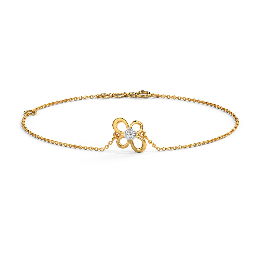 Diamond Bracelets 14 Karat Yellow Gold Anya Blooming Diamond Bracelet