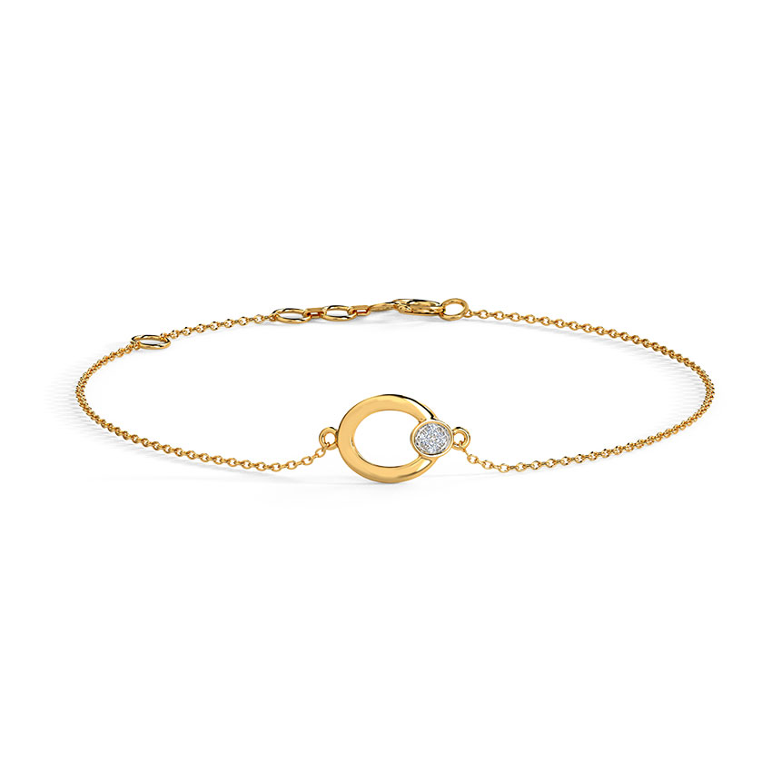 Diamond Bracelets 14 Karat Yellow Gold Pretty Classic Diamond Bracelet