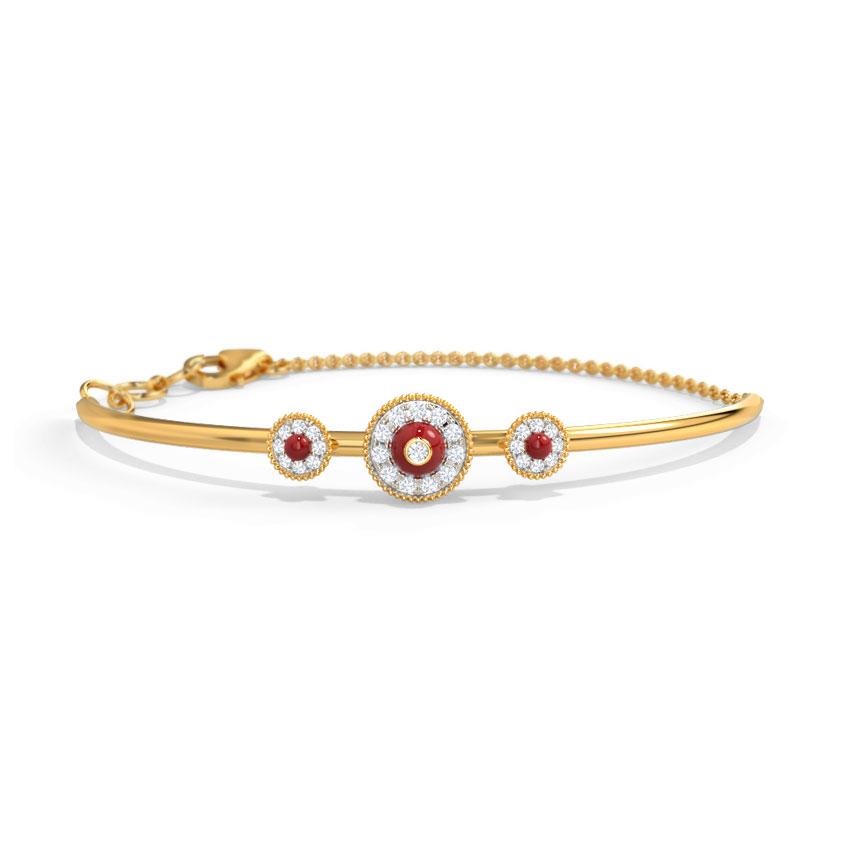 Diamond Bracelets 14 Karat Yellow Gold Kiranya Sphere Loha Diamond Bracelet