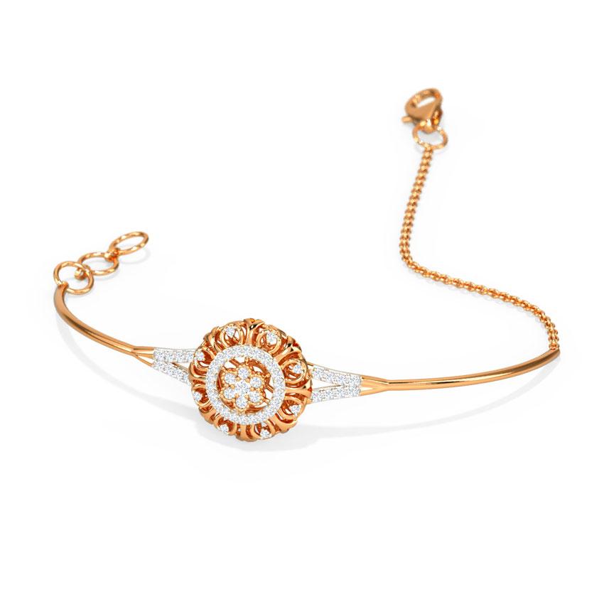 Diamond Bracelets 14 Karat Rose Gold Imperial Diamond Bracelet