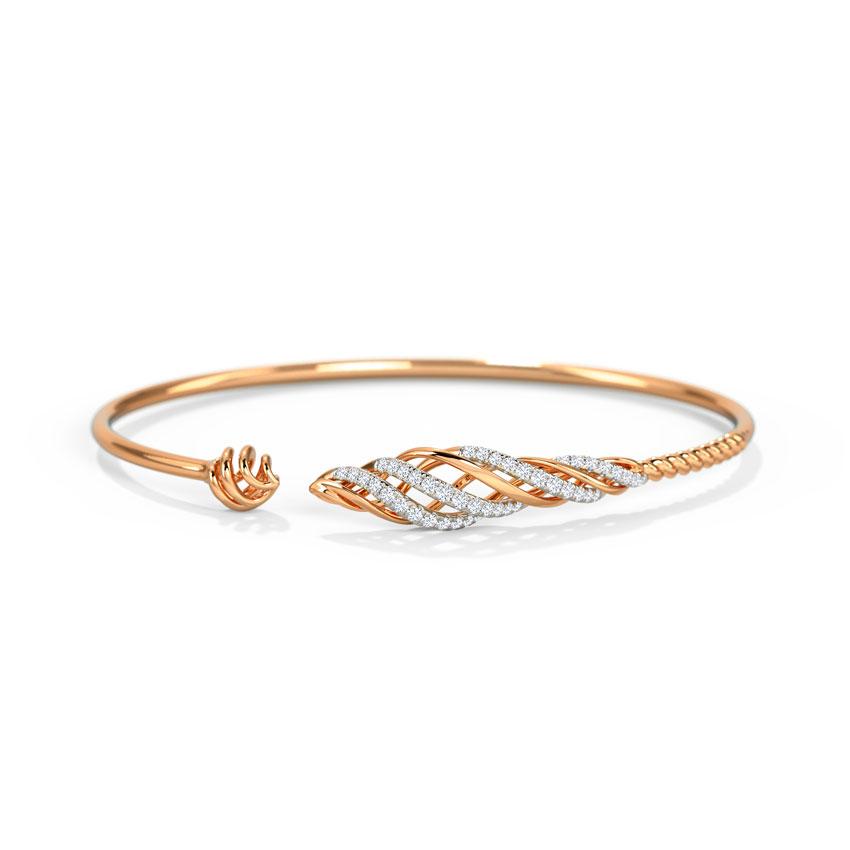 Diamond Bracelets 14 Karat Yellow Gold  Rasa Diamond Bracelet