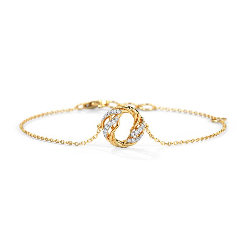 Diamond Bracelets 14 Karat Yellow Gold Borja Diamond Bracelet