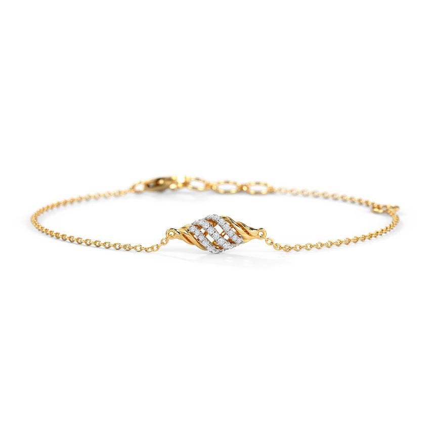Diamond Bracelets 14 Karat Yellow Gold Alza Diamond Bracelet