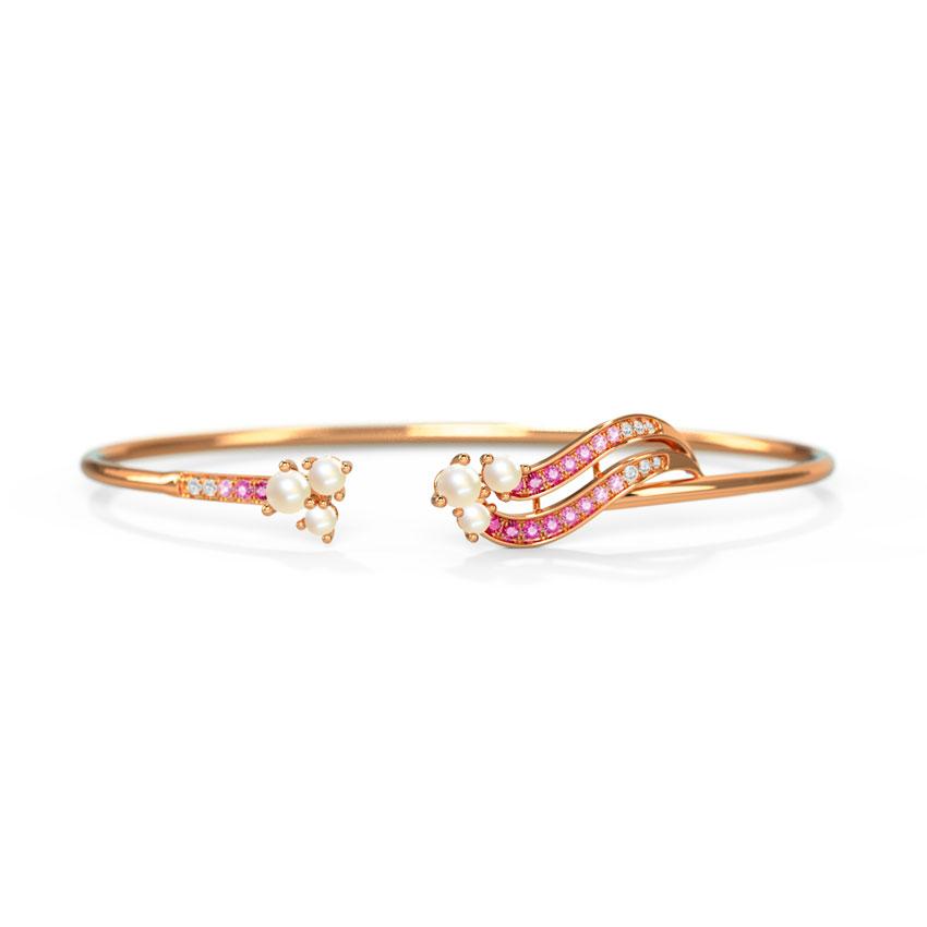 Diamond,Gemstone Bracelets 14 Karat Rose Gold Cordelia Tide Gemstone Bracelet