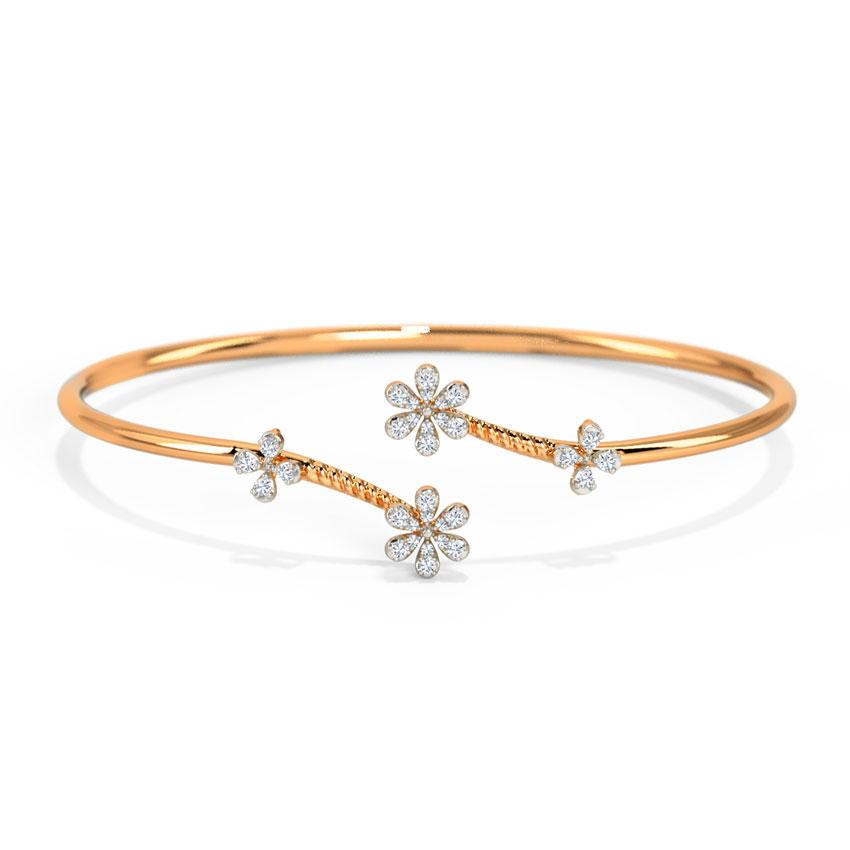 Diamond Bracelets 14 Karat Rose Gold Kinaya Sparkle Diamond Bracelet