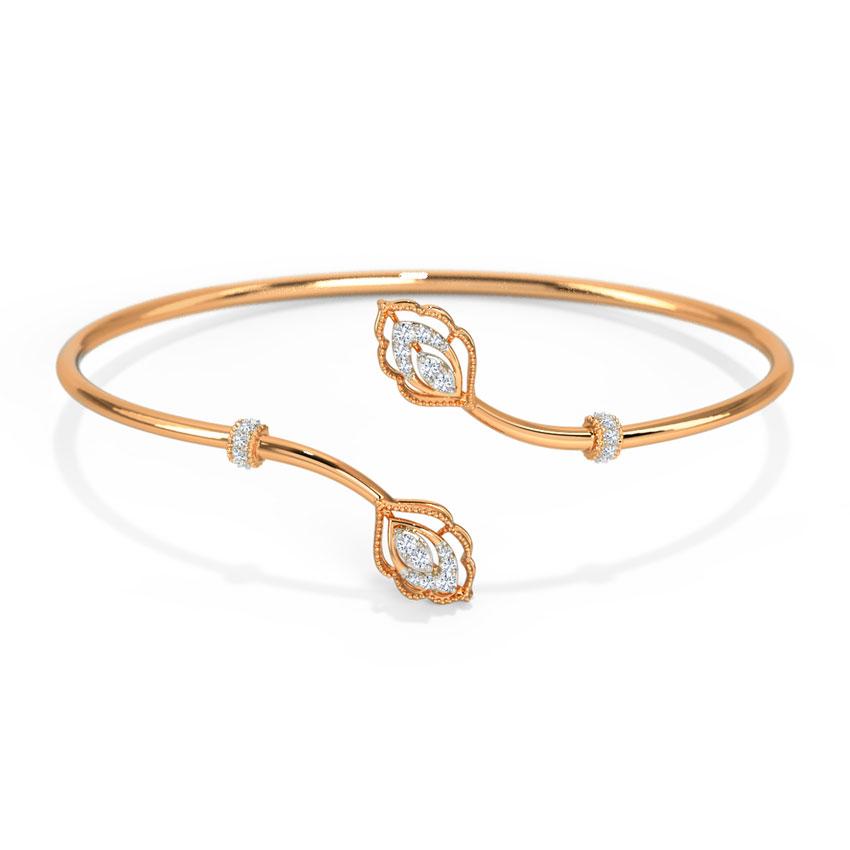 Diamond Bracelets 14 Karat Rose Gold Kelany Regal Diamond Bracelet