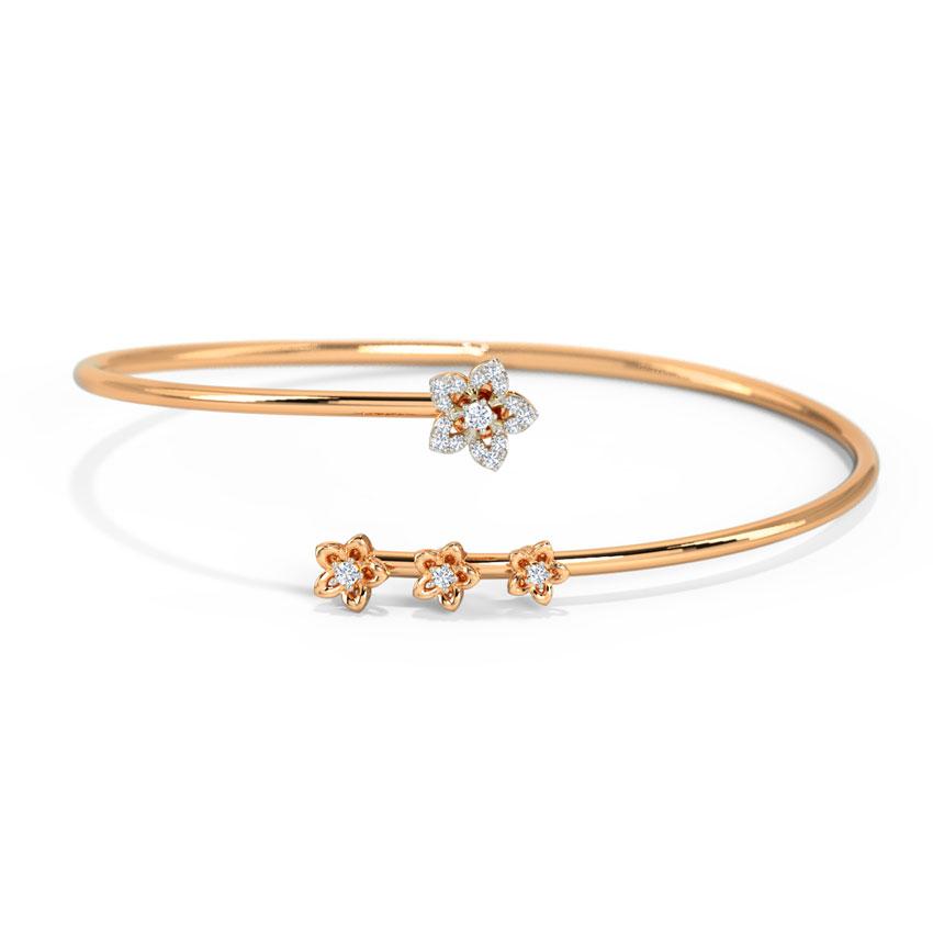 Diamond Bracelets 14 Karat Rose Gold Alorna Bouquet Diamond Bracelet