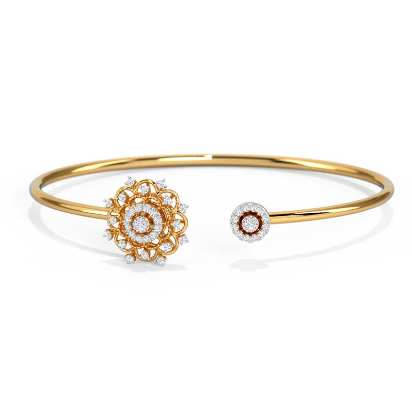Diamond Bracelets 14 Karat Yellow Gold Kashina Bloom Diamond Bracelet