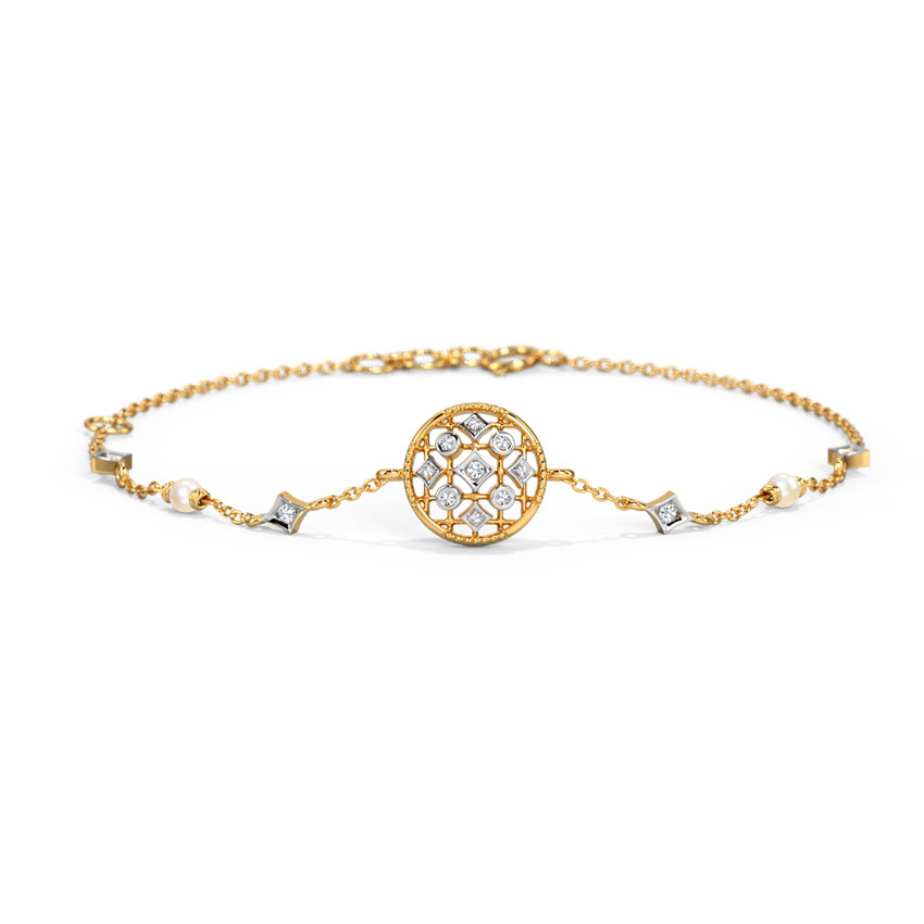 Diamond,Gemstone Bracelets 14 Karat Yellow Gold Charlotte Stunning Diamond Bracelet