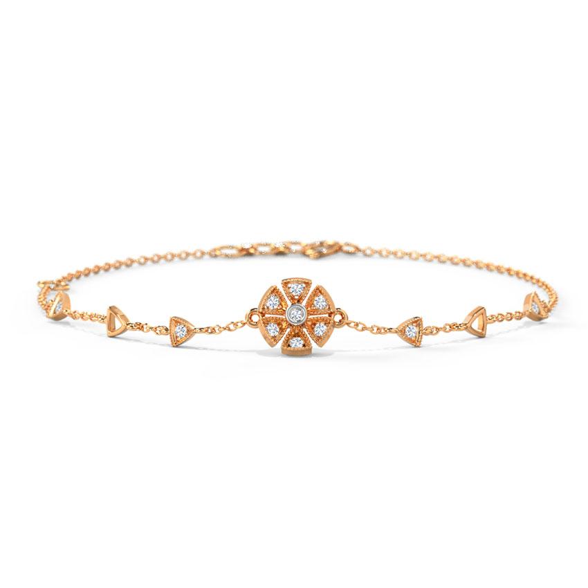 Diamond Bracelets 14 Karat Rose Gold Emma Elegant Diamond Bracelet