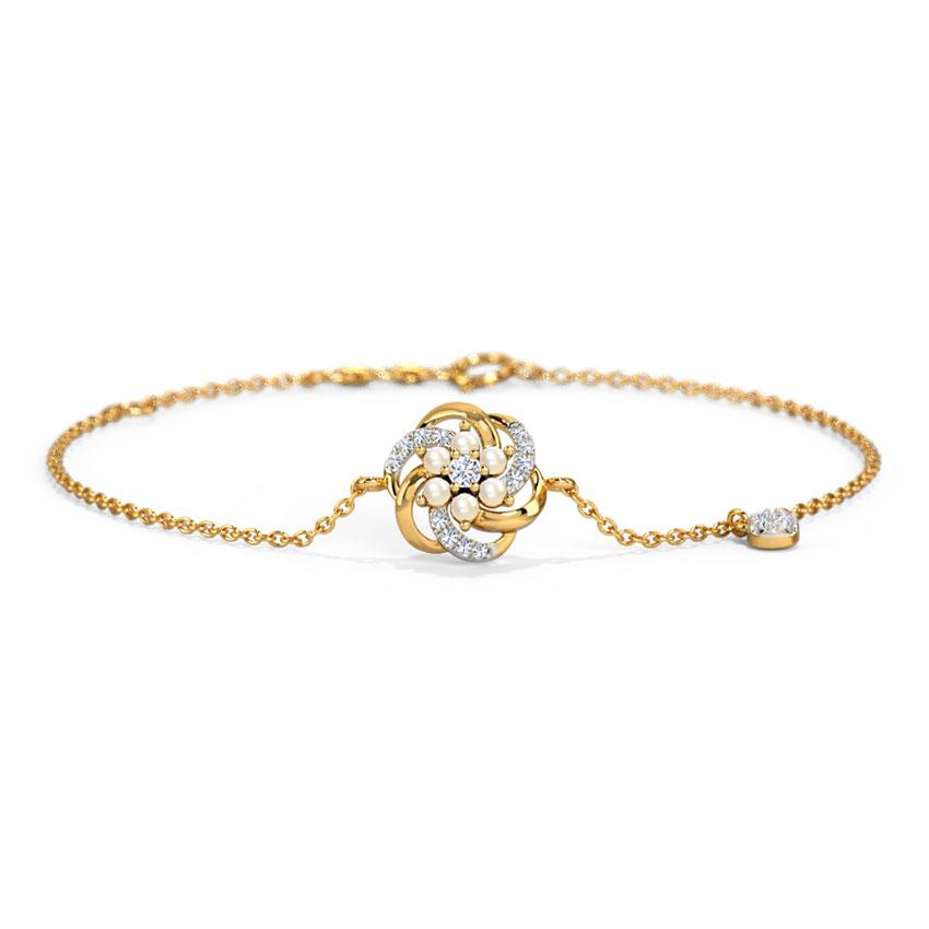 Diamond,Gemstone Bracelets 14 Karat Yellow Gold Ingrid Fleur Gemstone Bracelet