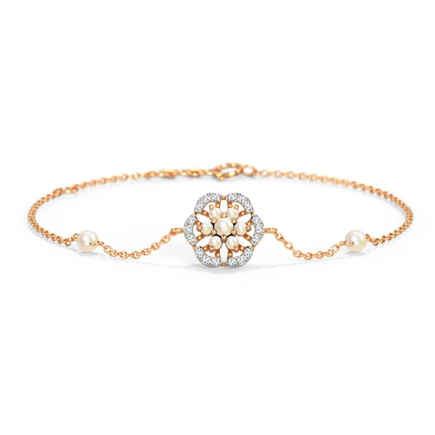 Diamond,Gemstone Bracelets 14 Karat Rose Gold Briella Flora Gemstone Bracelet