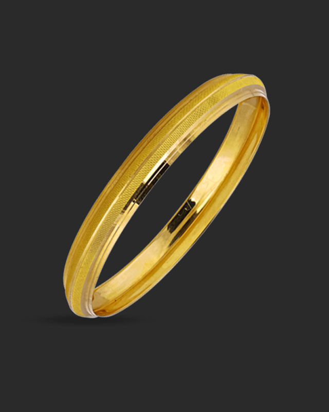 Gold Bangles 22 Karat Yellow Gold Gagan 22Kt Gold Kada For Him
