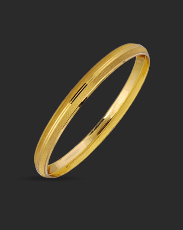 Gold Bangles 22 Karat Yellow Gold Aaryan Gold Kada For Him