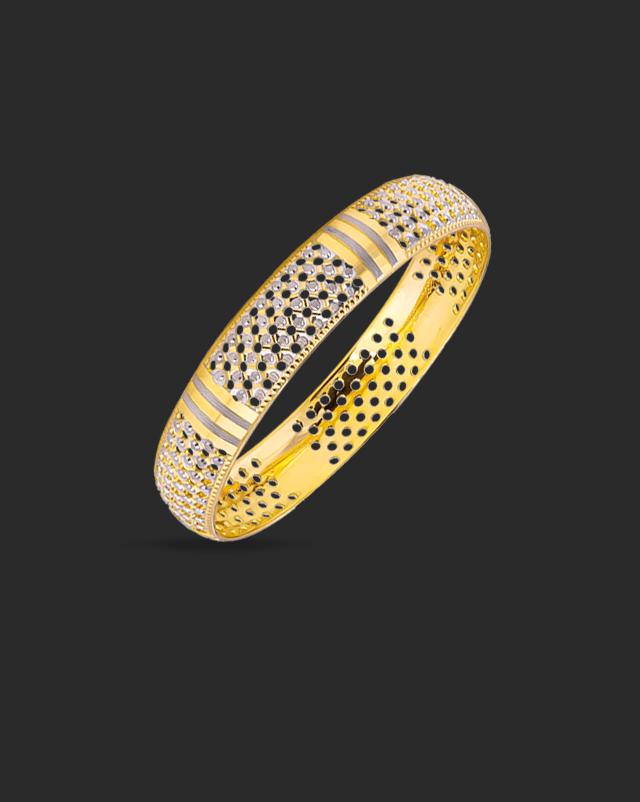 Gold Bangles 22 Karat Yellow Gold Sequence 22Kt Gold Bangle