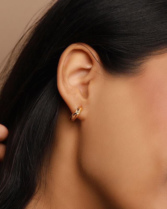 Latika 22Kt Gold Stud Earrings
