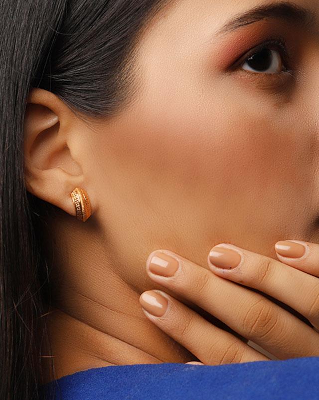 Gold Earrings 22 Karat Yellow Gold Akira 22Kt Gold Hoop Earrings