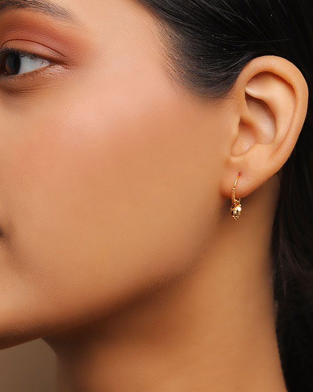 Gold Earrings 22 Karat Yellow Gold Alina 22Kt Gold Hoop Earrings