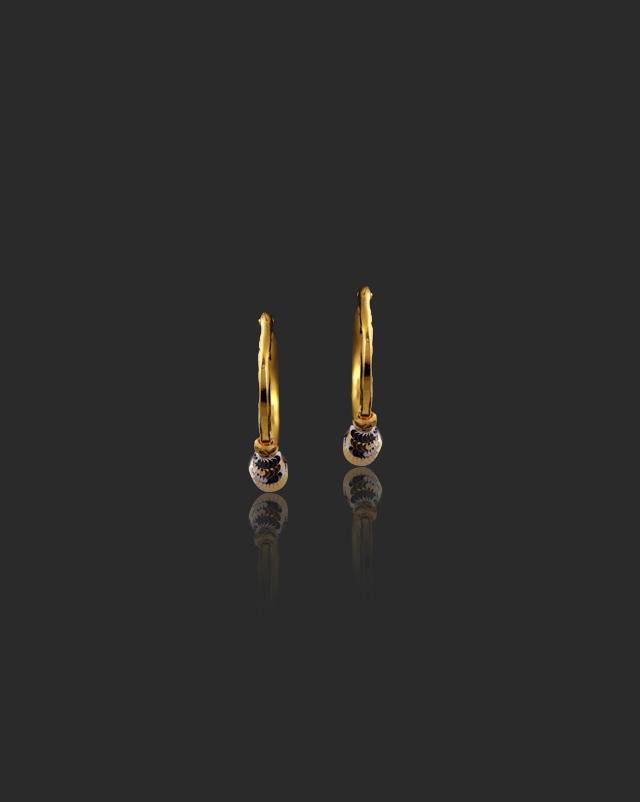 Gold Earrings 22 Karat Yellow Gold Aarohi 22Kt Gold Hoop Earrings