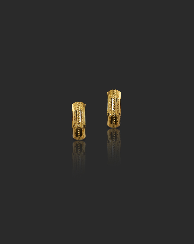 Gold Earrings 22 Karat Yellow Gold Gunjan 22Kt Gold Hoop Earrings