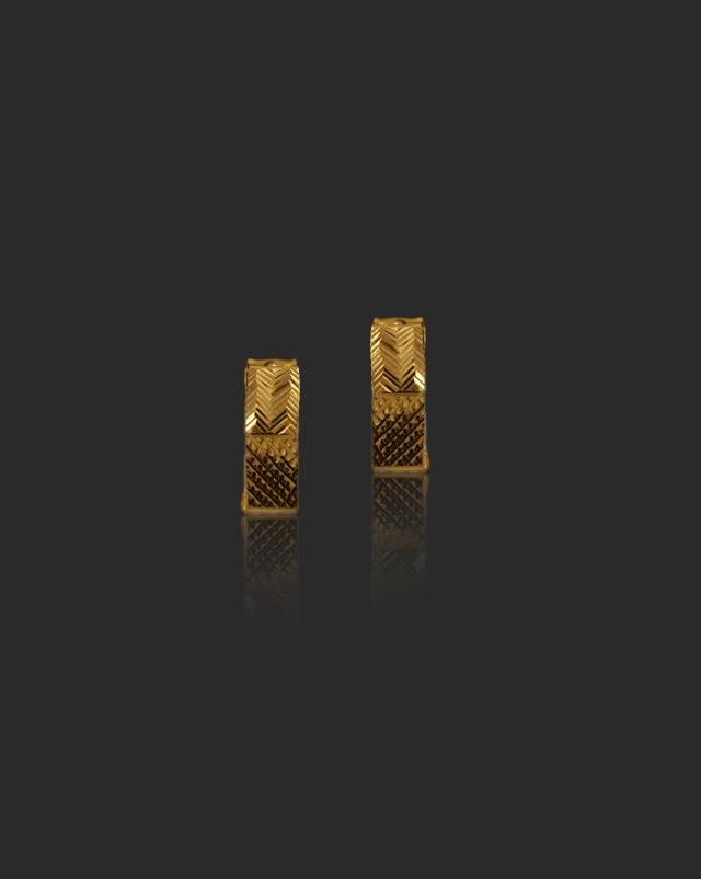 Gold Earrings 22 Karat Yellow Gold Lipika 22Kt Gold Hoop Earrings