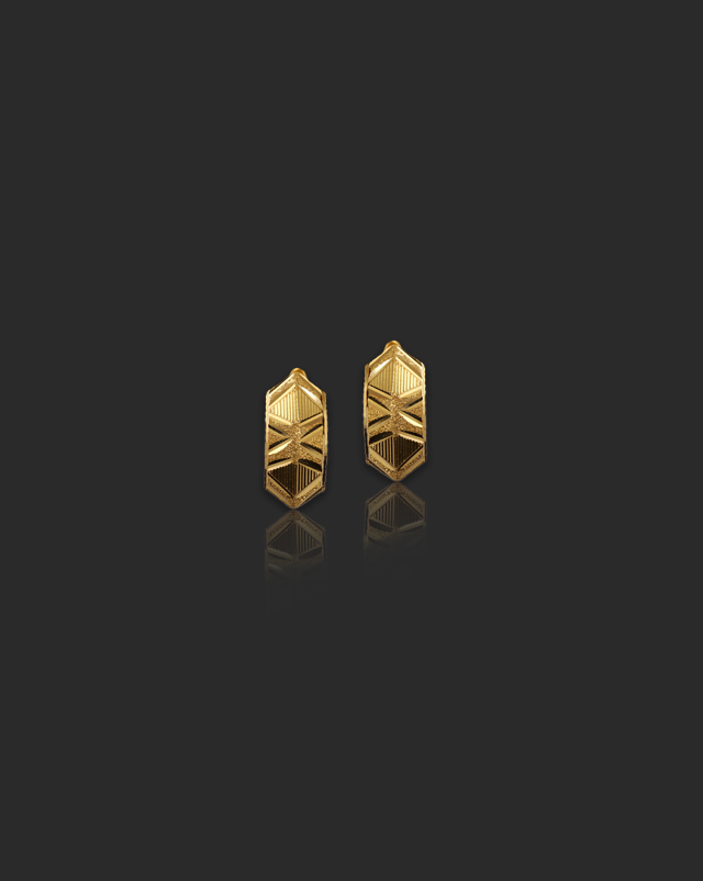 Gold Earrings 22 Karat Yellow Gold Kanak 22Kt Gold Hoop Earrings