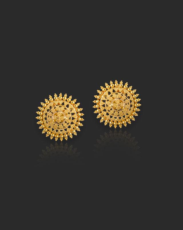 Adweta 22Kt Gold Stud Earrings