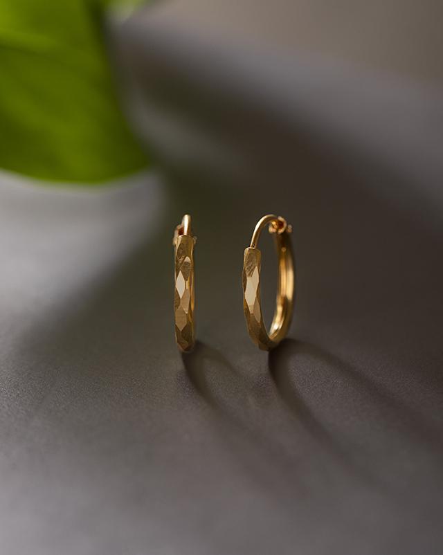 Gold Earrings 22 Karat Yellow Gold Tinkerbell Kids' 22Kt Gold Earrings