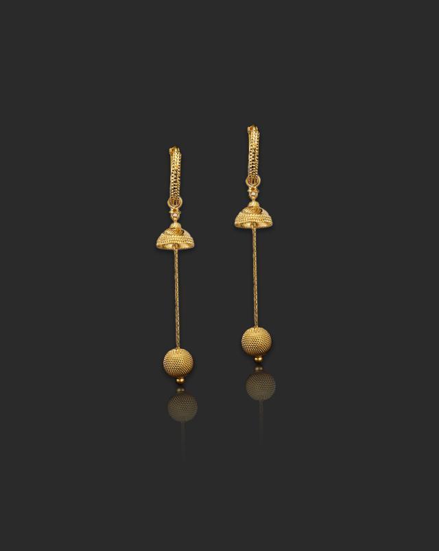 Maya 22Kt Gold Drop Earrings