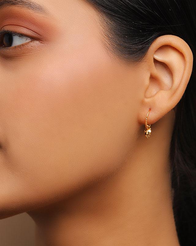 Alina 22Kt Gold Hoop Earrings