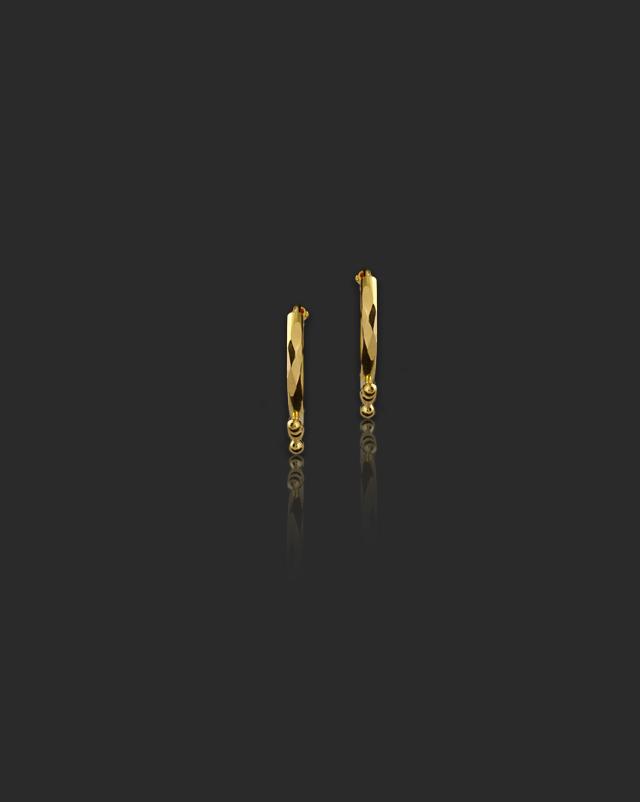 Chaaya 22Kt Gold Hoop Earrings