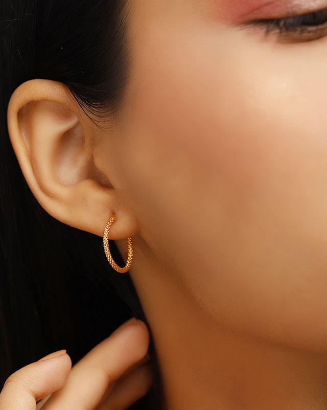 Arohi 22Kt Gold Hoop Earrings