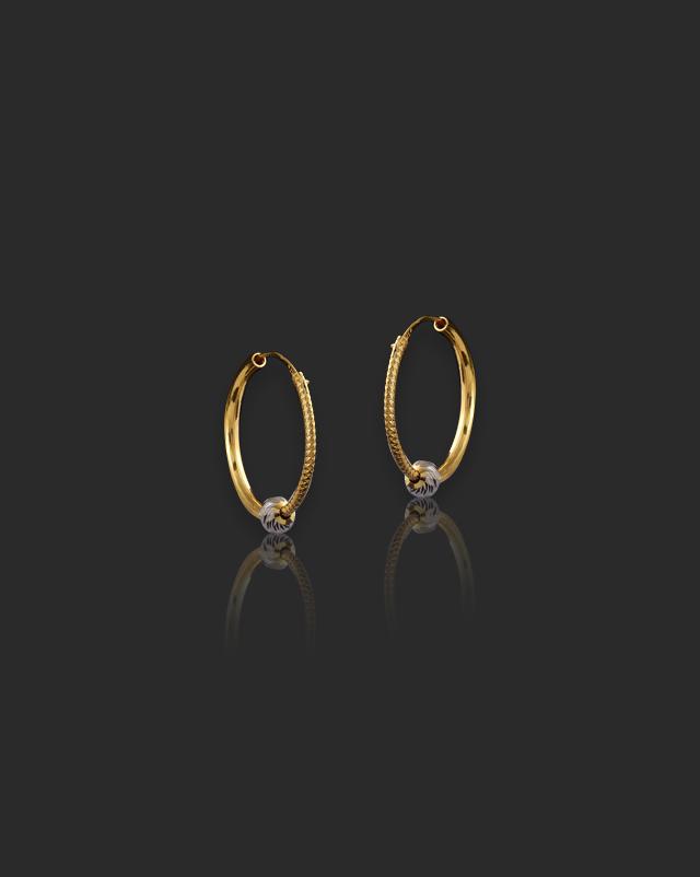 Bhumi 22Kt Gold Hoop Earrings