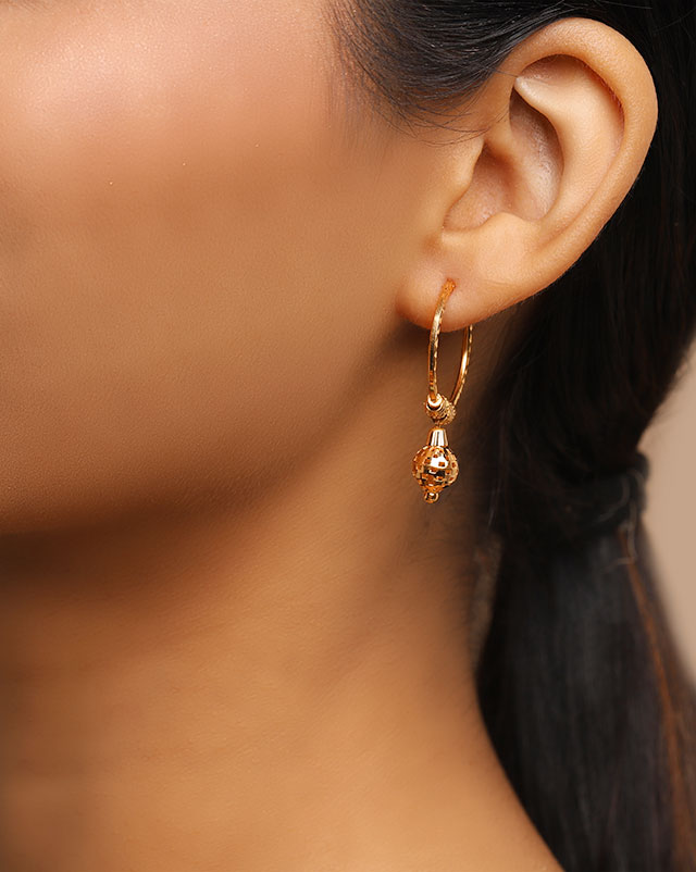 Nina 22Kt Gold Hoop Earrings