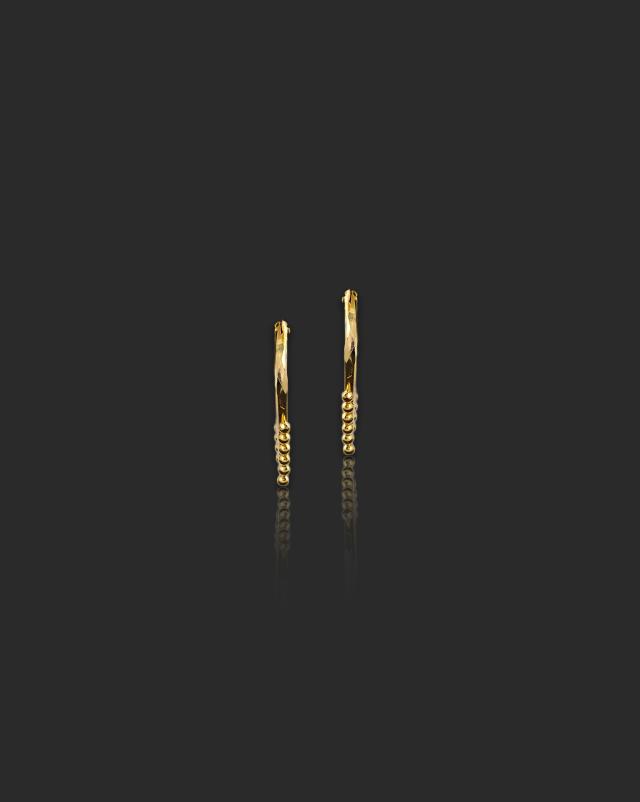 Diti 22Kt Gold Hoop Earrings