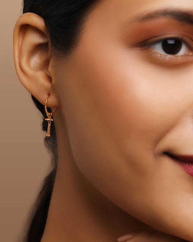 Payal 22Kt Gold Hoop Earrings