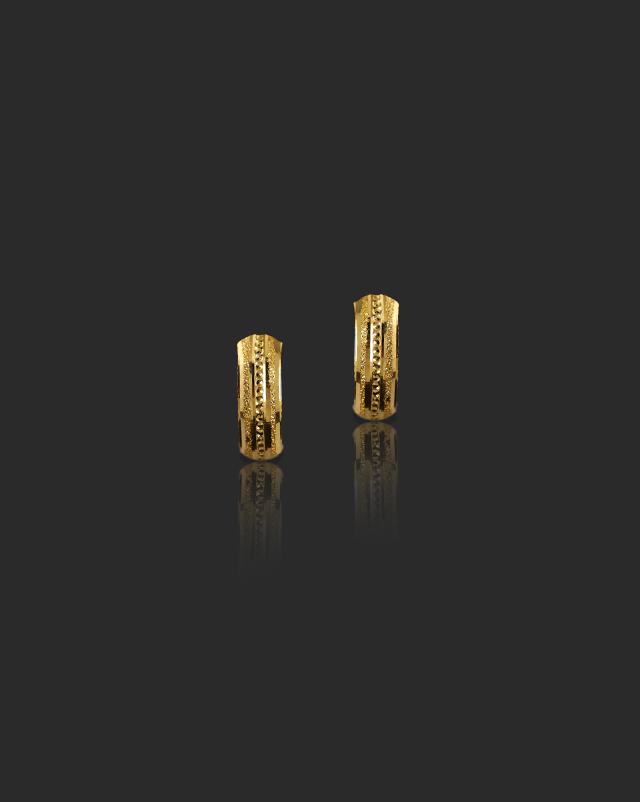 Sanya 22Kt Gold Hoop Earrings