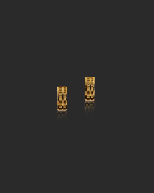 Simran 22Kt Gold Hoop Earrings