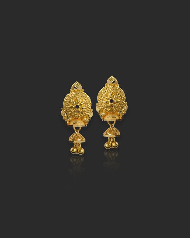 Gold Earrings 22 Karat Yellow Gold Kaira 22Kt Gold Drop Earrings