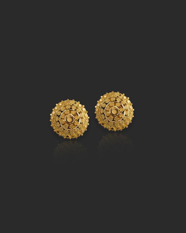 Preksha 22Kt Gold Stud Earrings