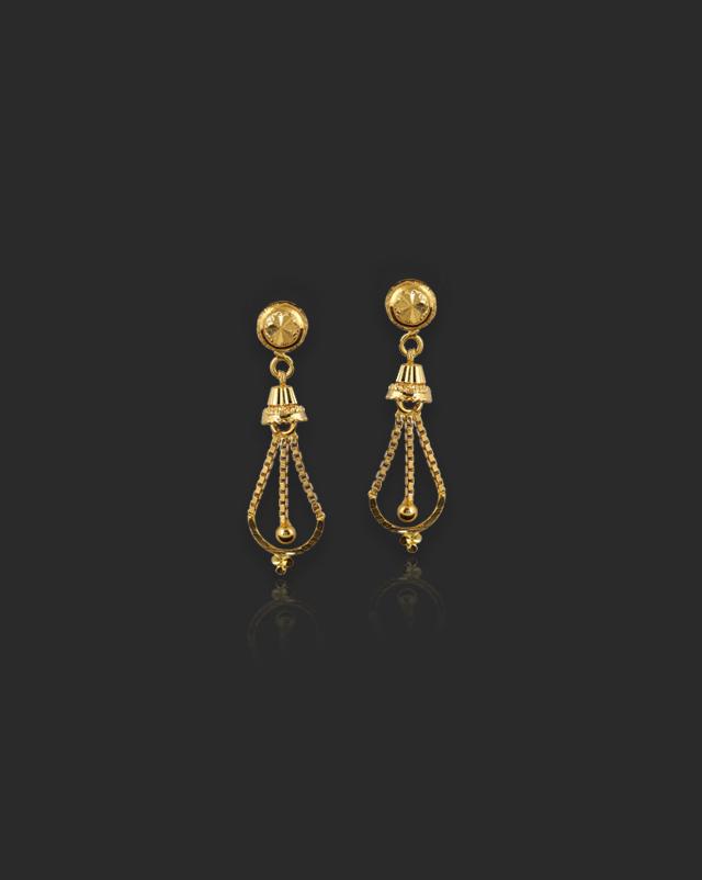 Rosie 22Kt Gold Drop Earrings