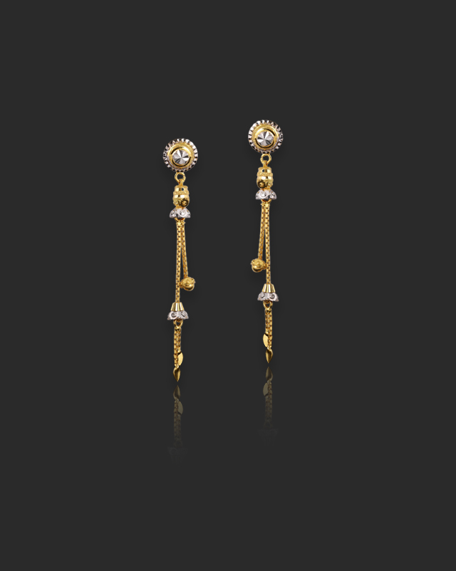 Twisha 22Kt Gold Drop Earrings