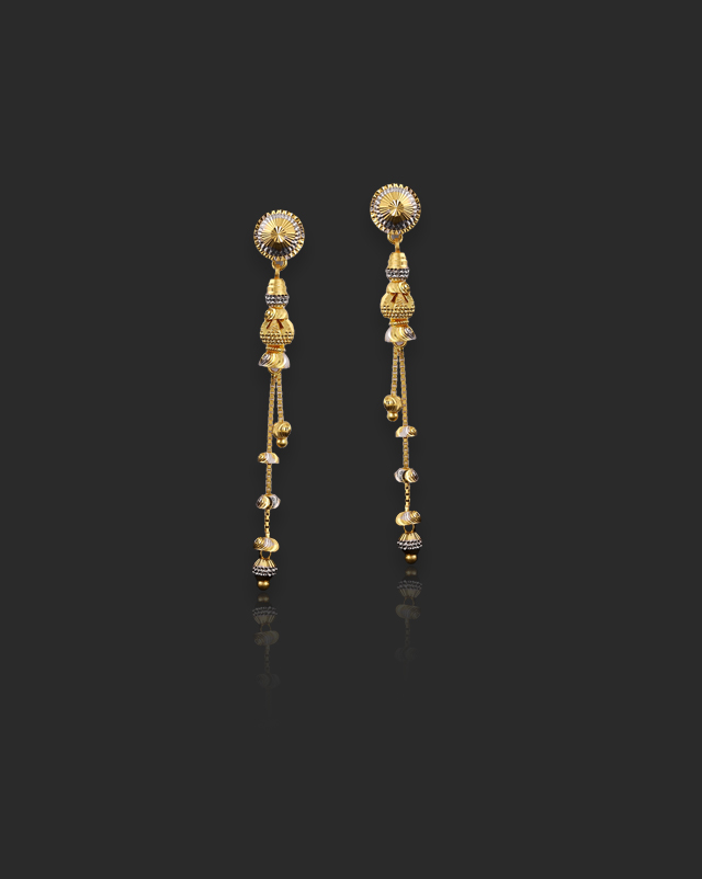 Naazia 22Kt Gold Drop Earrings