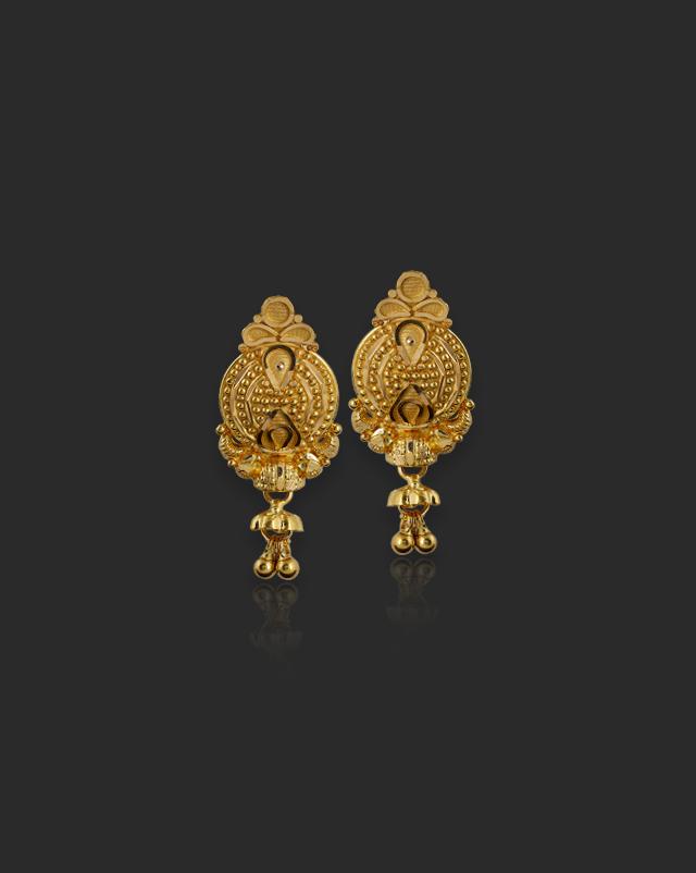 Aloki 22Kt Gold Drop Earrings